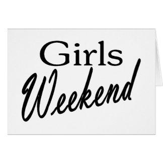 Week-end de filles carte de vœux