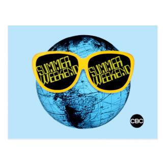 Week-end d'été - graphique de promo carte postale