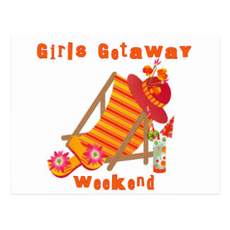Week-end tropical de fuite de filles carte postale