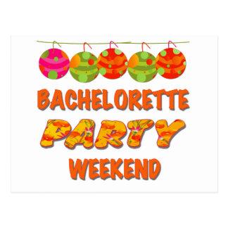Week-end tropical de partie de Bachelorette Carte Postale