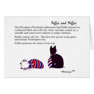 Weekend Card de Puffie et de Muffie du Président Carte De Vœux