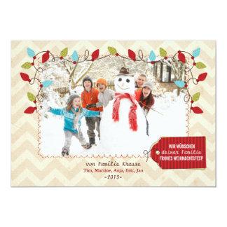 Weihnachten Foto-Karte Carton D'invitation 12,7 Cm X 17,78 Cm