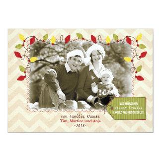 Weihnachten Foto-Karte Grußkarte Carton D'invitation 12,7 Cm X 17,78 Cm