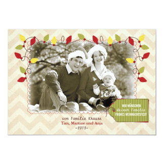 Weihnachten Foto-Karte Grußkarte Faire-parts