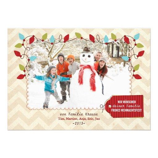 Weihnachten Foto-Karte Cartons D'invitation Personnalisés
