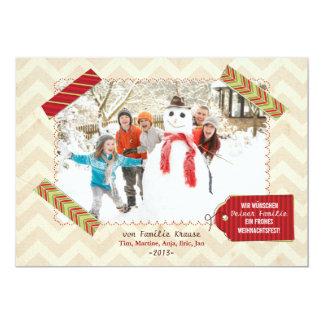 Weihnachten Foto-Karte Invitations Personnalisées