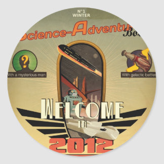 welcome in 2012 sticker rond