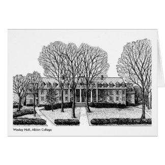 Wesley Hall, université d'Albion, carte pour notes