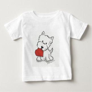 Westie avec le coeur t-shirt pour bébé