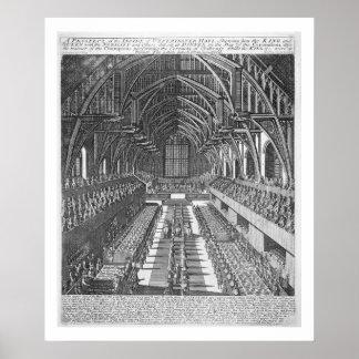 Westminster Hall pendant les célébrations après Posters