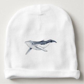 whale baby fond transparent bonnet de bébé