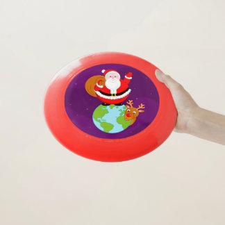 Wham-O Frisbee Bande dessinée d'amusement du père noël se tenant