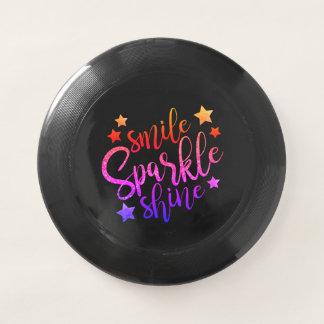 Wham-O Frisbee Citation colorée multi de noir d'éclat d'étincelle