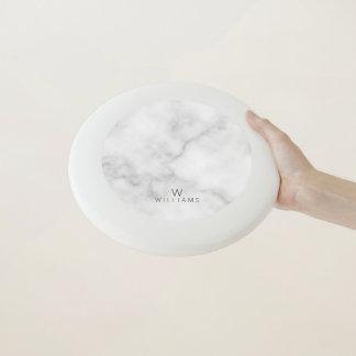 Wham-O Frisbee Marbre blanc avec le monogramme et le nom