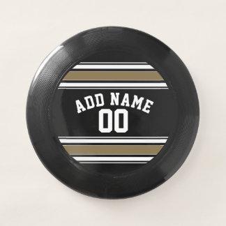 Wham-O Frisbee Noir et nom du Jersey de sports d'or - peut la