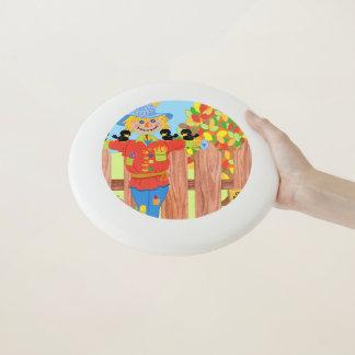 Wham-O Frisbee scène i de barrière d'épouvantail