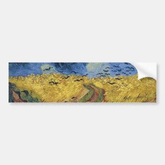 Wheatfield avec des beaux-arts de Van Gogh des Autocollant Pour Voiture