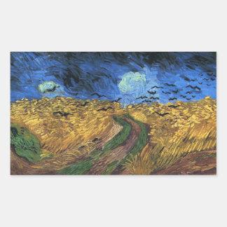 Wheatfield de Van Gogh avec des autocollants de