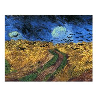 Wheatfield de Van Gogh avec la carte postale de