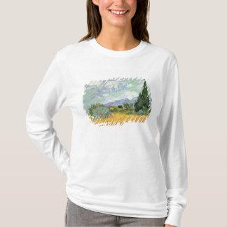 Wheatfield de Vincent van Gogh | avec des cyprès, T-shirt