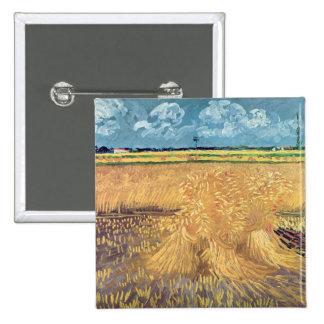 Wheatfield de Vincent van Gogh | avec des gerbes, Badges