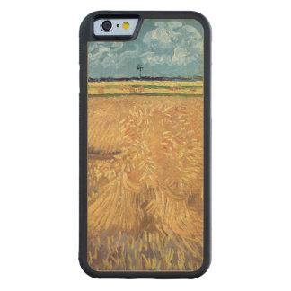 Wheatfield de Vincent van Gogh   avec des gerbes, Coque Pare-chocs En Érable iPhone 6