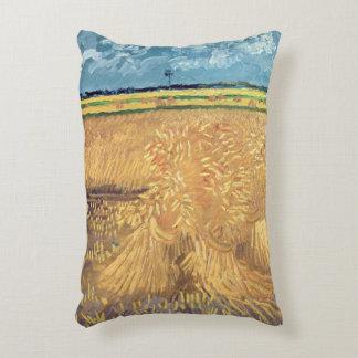 Wheatfield de Vincent van Gogh   avec des gerbes, Coussins Décoratifs