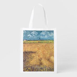 Wheatfield de Vincent van Gogh | avec des gerbes, Sacs D'épicerie Réutilisables