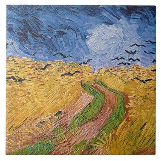 Wheatfield de Vincent van Gogh | avec des Grand Carreau Carré