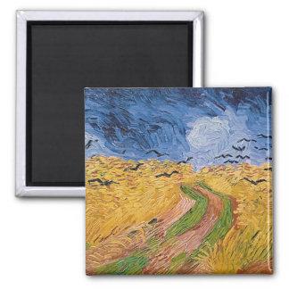 Wheatfield de Vincent van Gogh | avec des Magnet Carré