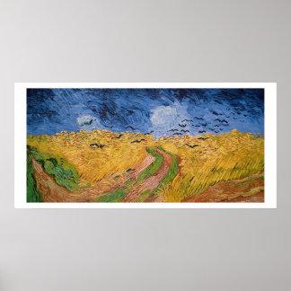 Wheatfield de Vincent van Gogh   avec des Poster