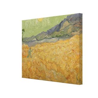 Wheatfield de Vincent van Gogh | avec Reaper, 1889 Toiles