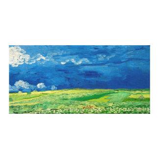 Wheatfield sous des nuages noirs par Vincent van Toiles