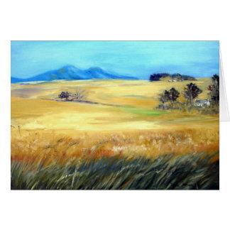 Wheatfields de ondulation carte de vœux