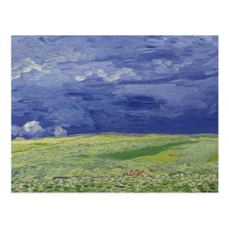 Wheatfields de Vincent van Gogh   sous le nuage Carte Postale