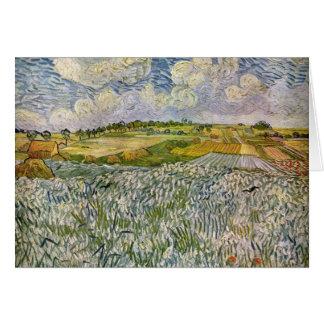 Wheatfields par Van Gogh Carte De Vœux