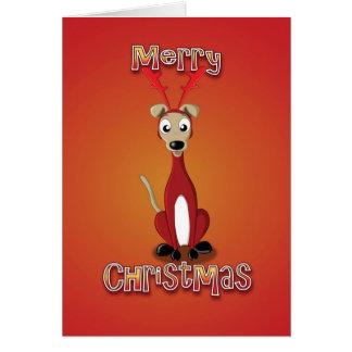whippet - costume de renne - Joyeux Noël Carte De Vœux