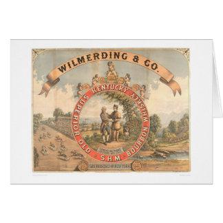 Whiskey de Wilmerding et de Cie. Kentucky (1855A) Carte De Vœux