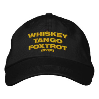 Whiskey, tango, fox-trot (plus de) casquette brodée