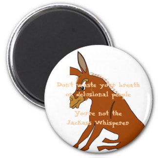 Whisperer d'âne magnet rond 8 cm