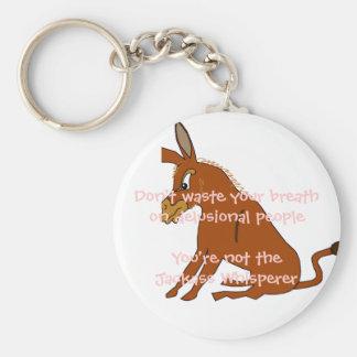 Whisperer d'âne porte-clé rond