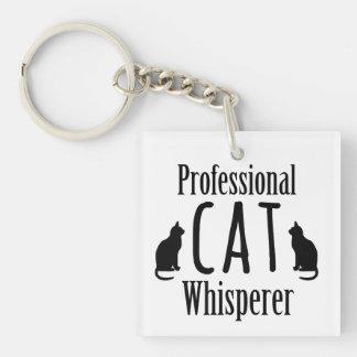 Whisperer professionnel de chat porte-clé