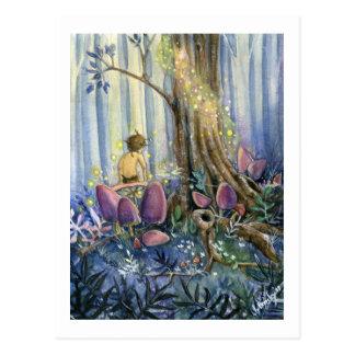 Whisperings de forêt carte postale