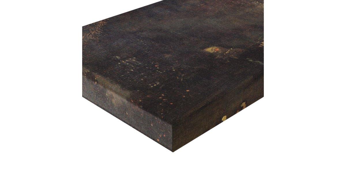 whistler nocturne noir et or le feu whee toile tendue sur ch ssis zazzle. Black Bedroom Furniture Sets. Home Design Ideas