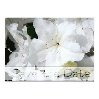 White Azalea - Save the date - Wedding Invitation