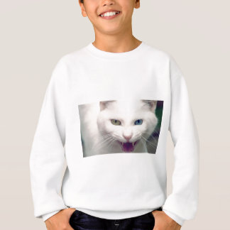 White cat sweatshirt