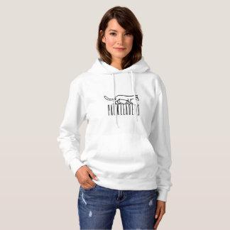 *white* de sweat - shirt à capuche de logo de