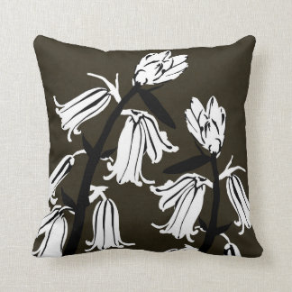 Whitebell fleurit carreau moderne de Decor#12i Coussin