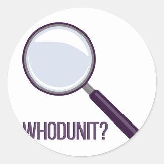 Whodunit Sticker Rond