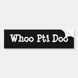 Whoo Pti Doo Autocollant De Voiture